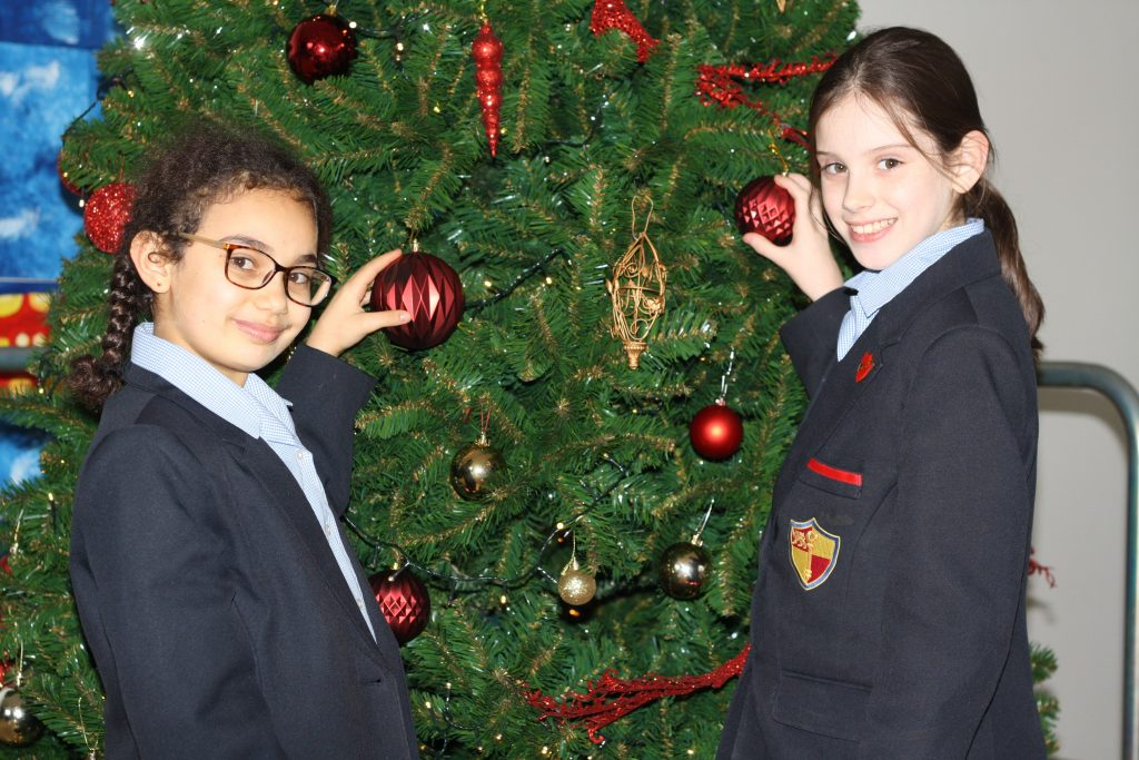 Our Christmas Tree takes Pride of Place – Prenton High School for Girls